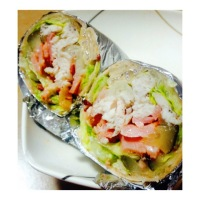Chicken and Bacon Salad Wrap